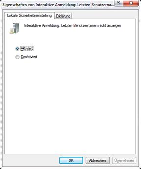 windows 7 klassische anmeldung