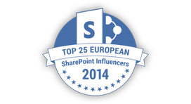 Top 25 European SharePoint Influencers 2014