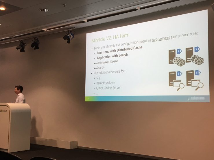 SharePoint Saturday Zurich: SharePoint 2016 architecture and sizing