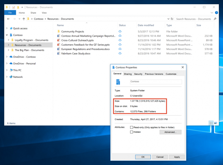 OneDrive Files OnDemand
