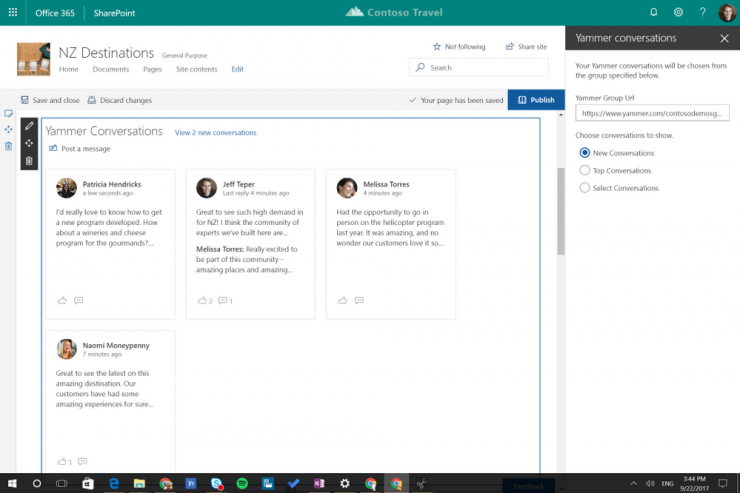 Yammer Integration