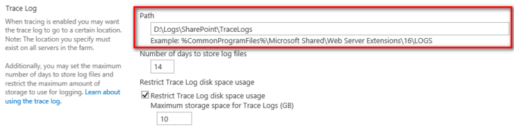 Moving SharePoint trace and usage logs (using PowerShell