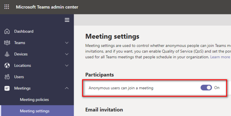 Anonymous Teams Meeting Join
